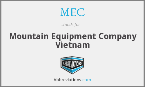 MEC - Mountain Equipment Company Vietnam