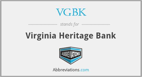 VGBK - Virginia Heritage Bank