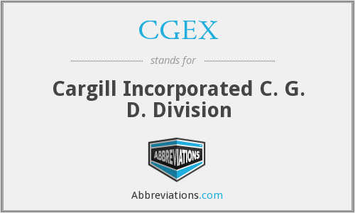 CGEX - Cargill Incorporated C. G. D. Division