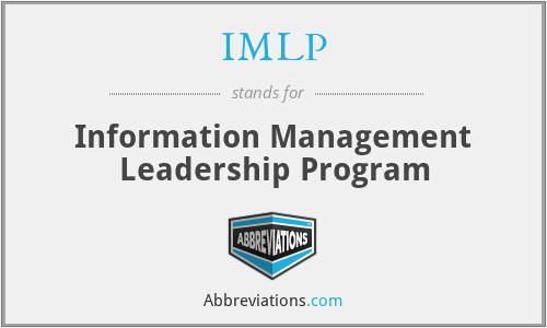 IMLP - Information Management Leadership Program