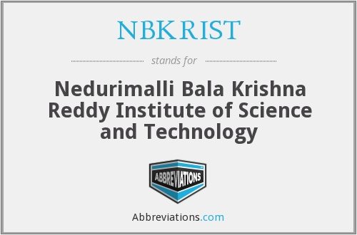 NBKRIST - Nedurimalli Bala Krishna Reddy Institute of Science and Technology