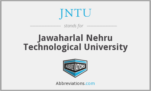 What does JNTU stand for?