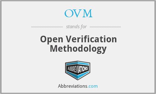 OVM - Open Verification Methodology