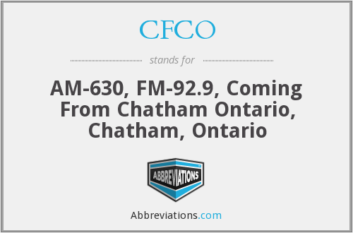 CFCO - AM-630, FM-92.9, Coming From Chatham Ontario, Chatham, Ontario