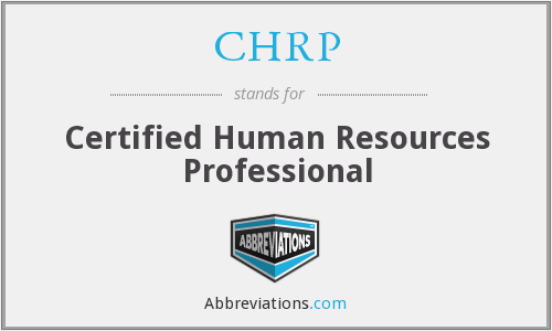 What does CHRP stand for?