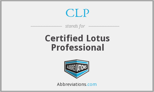 CLP - Certified Lotus Professional