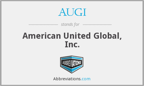 AUGI - American United Global, Inc.
