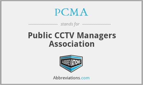 PCMA - Public CCTV Managers Association