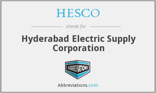 HESCO - Hyderabad Electric Supply Corporation