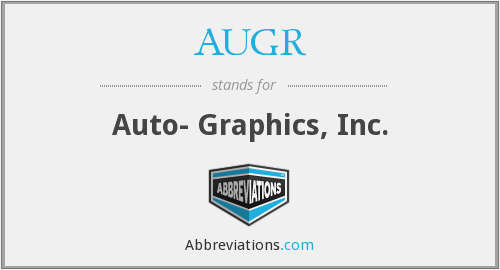 AUGR - Auto- Graphics, Inc.