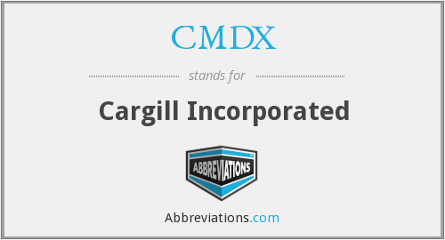 What does CMDX stand for?