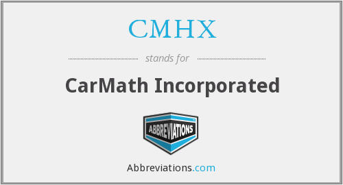 CMHX - CarMath Incorporated