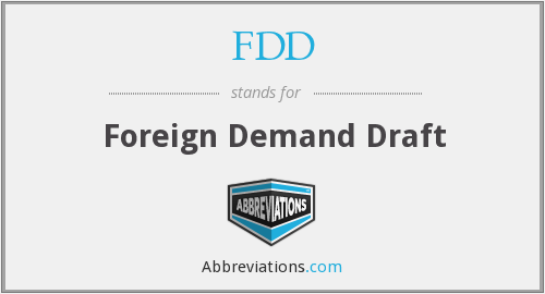 FDD - Foreign Demand Draft