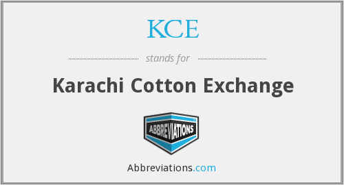 KCE - Karachi Cotton Exchange
