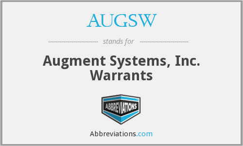 AUGSW - Augment Systems, Inc. Warrants