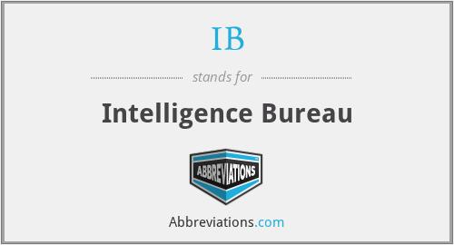 IB - Intelligence Bureau