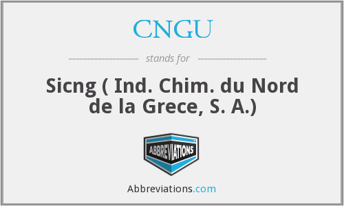 What does CNGU stand for?