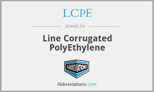 LCPE - Line Corrugated PolyEthylene