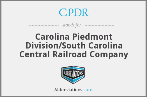 CPDR - Carolina Piedmont Division/South Carolina Central Railroad Company