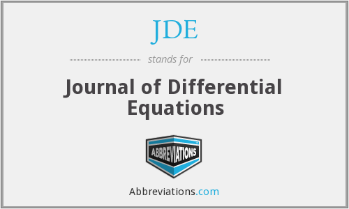 JDE - Journal of Differential Equations