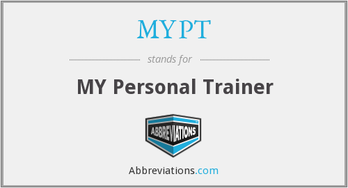 MYPT - MY Personal Trainer