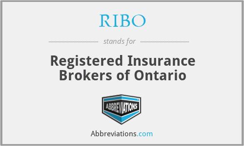 RIBO - Registered Insurance Brokers of Ontario