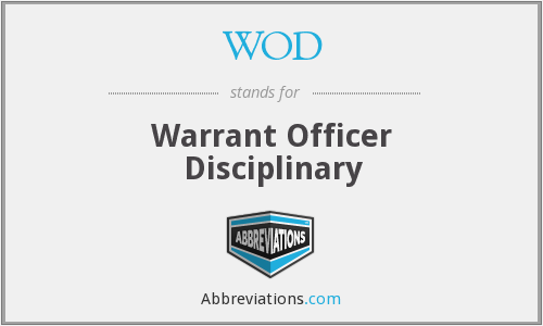 WOD - Warrant Officer Disciplinary