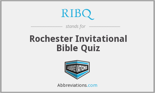 RIBQ - Rochester Invitational Bible Quiz
