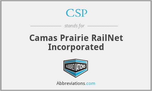 CSP - Camas Prairie RailNet Incorporated