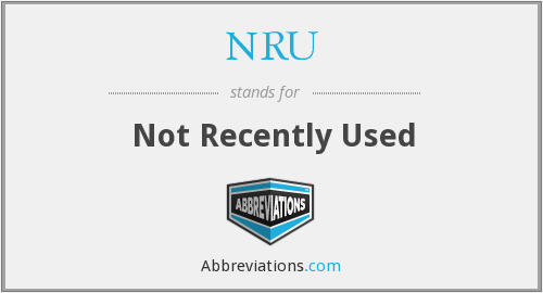 NRU - Not Recently Used
