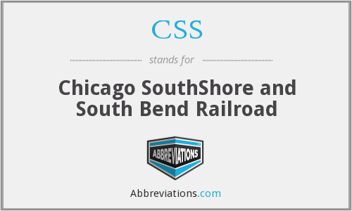 CSS - Chicago SouthShore and South Bend Railroad