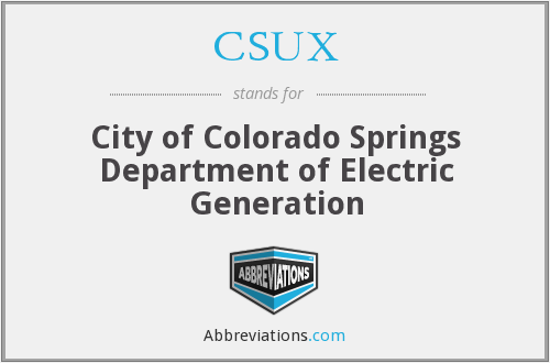 CSUX - City of Colorado Springs Department of Electric Generation