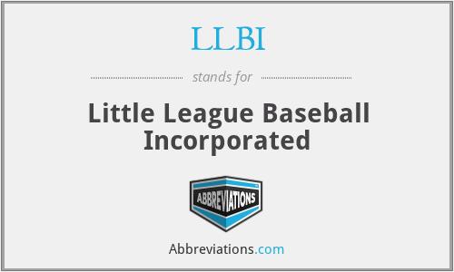 LLBI - Little League Baseball Incorporated