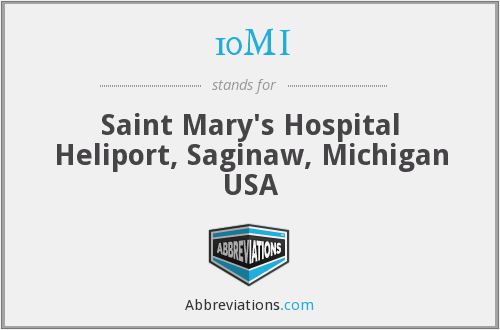10MI - Saint Mary's Hospital Heliport, Saginaw, Michigan USA