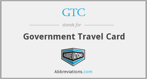 GTC - Government Travel Card