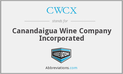 CWCX - Canandaigua Wine Company Incorporated