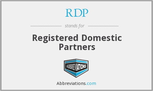 RDP - Registered Domestic Partners