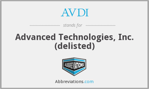 AVDI - Advanced Technologies, Inc. (delisted)