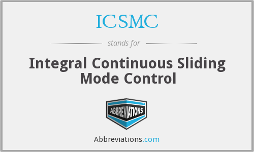 ICSMC - Integral Continuous Sliding Mode Control