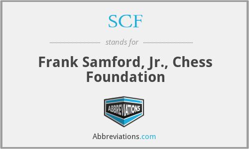 SCF - Frank Samford, Jr., Chess Foundation
