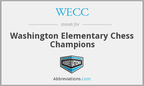 WECC - Washington Elementary Chess Champions