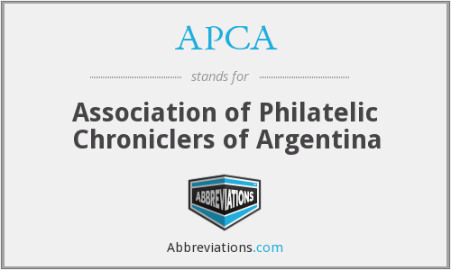 APCA - Association of Philatelic Chroniclers of Argentina