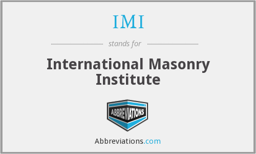 IMI - International Masonry Institute