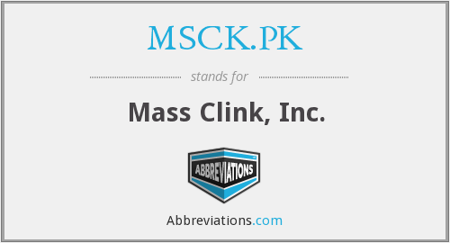 What does MSCK.PK stand for?
