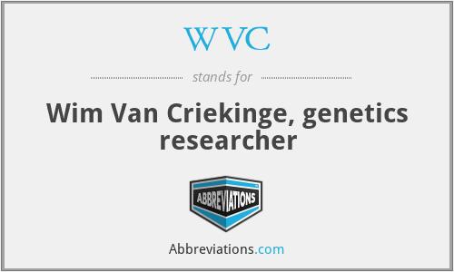 WVC - Wim Van Criekinge, genetics researcher