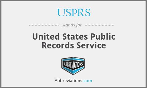USPRS - United States Public Records Service