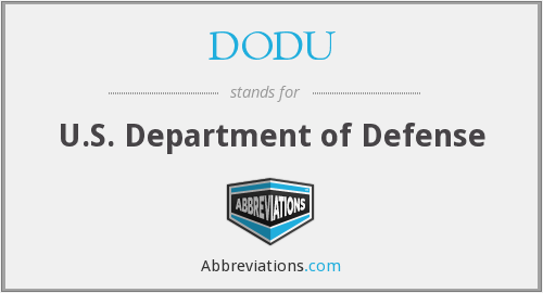 DODU - U.S. Department of Defense