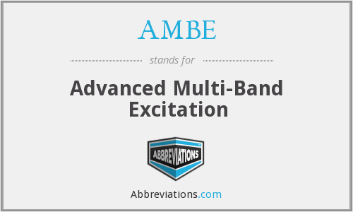 AMBE - Advanced Multi-Band Excitation