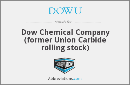 DOWU - Dow Chemical Company (former Union Carbide rolling stock)