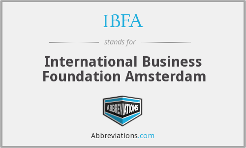 IBFA - International Business Foundation Amsterdam